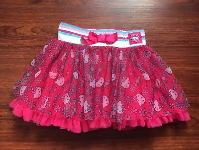 Hello Kitty Toddler Girls Pink Tutu Skirt Size 4T