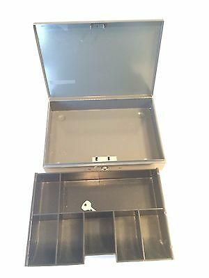 Master Lock 7113D Cash Box with 7-Compartment Tray GUC Gray