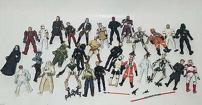 Lot of 25 Star Wars Action Figures from 1995-2007 Greivous, Anakin, Obi Wan