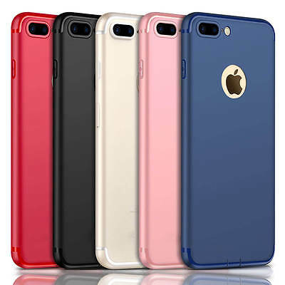Ultra Thin Dirtproof Silicone Rubber Full Cover Case Skin for iPhone 8 7 Plus 6s