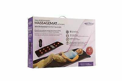 Relaxus Full Length Body Massage Mat With Heat- 1 Year Warranty- Infrared Heat