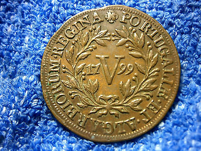 Portugal: Very Scarce 5 Reis 1799  Extremely Fine++++ To About Uncirculated!!