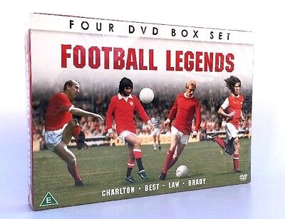 World Cup Football Legends 4 DVD Boxset - Best, Brady, Charlton and Law 2013