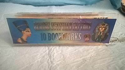 10 Vintage Egyptian Papyrus Bookmarks Book Mark in original plastic