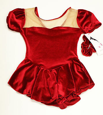 New Practice Skating Dress Red Velvet Stanford Size AS SMALL