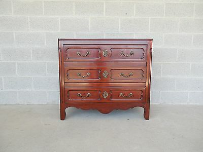 "John Widdicomb French Cherry 3 Drawer Bachelor Chest 38""W x 34""H"