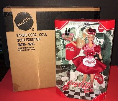 LIMITED EDITION: BARBIE'S COCA-COLA SODA FOUNTAIN NRFB Item #26980 #22831 MATTEL