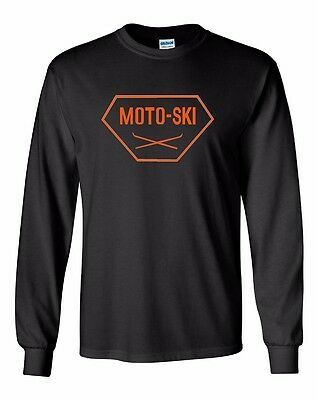 MOTO SKI Vintage Snowmobile Long Sleeve T-Shirt Sizes to 5X! CHOOSE COLOR