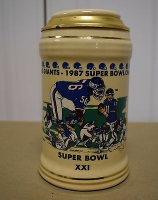 New York Giants 1987 Super Bowl XXI Champions Lidded Stein
