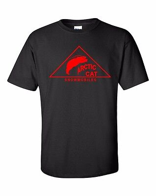 POLAR BEAR ARCTIC CAT VINTAGE Snowmobile Short Sleeve Tshirt *CHOOSE YOUR COLOR*