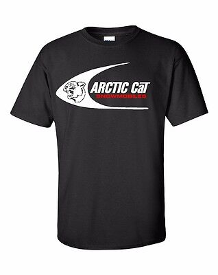 ARCTIC CAT Swoosh Vintage Snowmobile Short Sleeve Tshirt Sizes to 5XL Red or Wht
