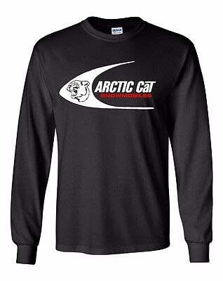 ARCTIC CAT SWOOSH Vintage Snowmoible Long Sleeve Tshirt Sizes to 5XL