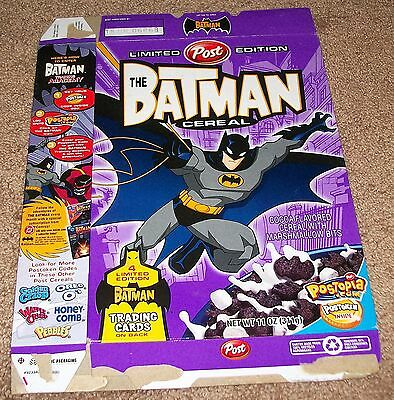 Vintage 2005 Post Limited Edition The Batman Cereal Box Flat Trading Cards Back