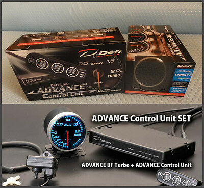 DEFI ADVANCE BF Turbo Boost Gauge 2.0kPa Blue + Advance Control Unit Set