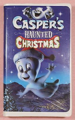 """""""Casper's Haunted Christmas"""" in clamshell case on VHS Video tape"""