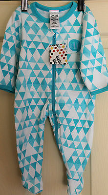 New with Tags Babies 'BABY BERRY' Blue & White one piece  suit size 000