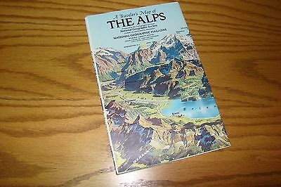 THE ALPS National Geographic Map w/ Descriptive Notes
