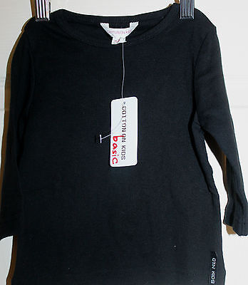 New with Tags Cotton On Kids Black long Sleeved Tops/T-shirt size 0  NEW