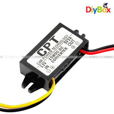 DC Step Down Converter 12V to 5V 3A 15W Regulator Car Led Display Power NO USB