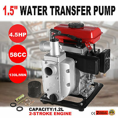 1.5'' Fuel Diesel petrol Gas Water Transfer Pump Pro Air-Cooled low noise GREAT