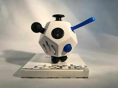 Fidget Cube 12 Side Sided Desk Toy Stress Anxiety Relief Focus Puzzle White Kid