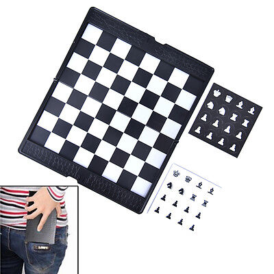 Pocket Chess Set Board Magnetic Checkers Set Traveler Plane To Carry Game fm