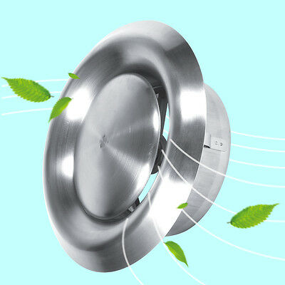 Stainless Steel Wall Ceiling Round Air Vent Grille Cover Ventilation Ducting LJ