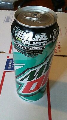 Mountain Dew Baja Blast 24oz Original BAJA OR BUST TALL CAN EXPIRED! RARE.