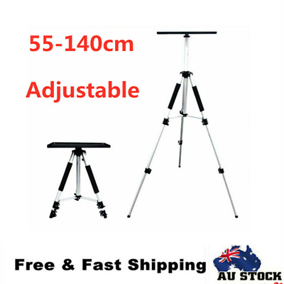 Adjustable Projector Tripod Stand For Notebook Laptop Portable W/ Tray 55-140cm
