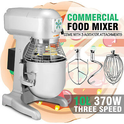 Cater Master Catering Commercial Grade 10L Planetary Food Mixer 370W 0.5 HP