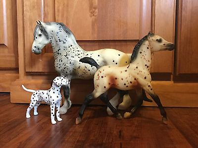 Breyer Traditional Lots of Spots JCP #410600 Appaloosa Friesian Dalmation Set