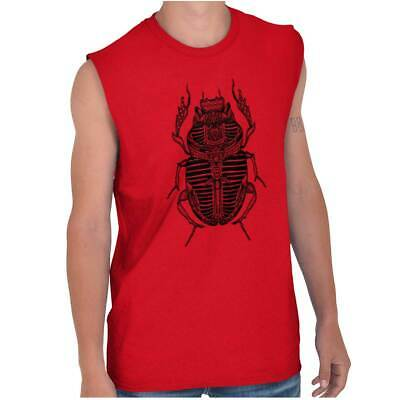 Ancient Egyptian Scarab Beetle Shirt Spirit Animal Cool Gift Sleeveless T Shirt