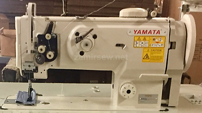 Yamata-1541S-Single-Needle-Walking-Foot-Sewing-Machine-w-Table-Servo-Motor-NEW