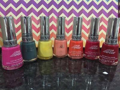 REVLON TOP SPEED Fast Dry Nail Polish  7 colours pick 2 for $12.00 FREE POST