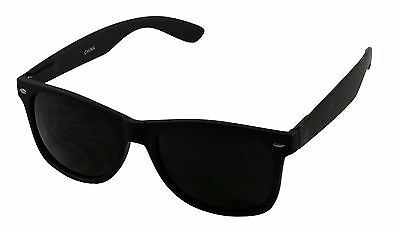 ShadyVEU- Mens Womens Super Dark Black Limo Tint Casual 80s Retro UV Sunglasses