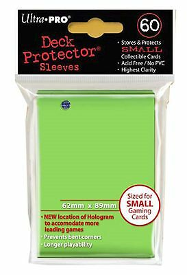Ultra Pro Deck Protector Sleeves x60 - Small - Lime (for Yu-Gi-Oh etc.)