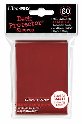 Ultra Pro Deck Protector Sleeves x60 - Small - Red (for Yu-Gi-Oh etc.)