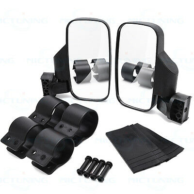 "MICTUNING Polaris UTV  RZR Side View Mirror High impact mirror For 1.75""-2"" Car"