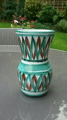 Beautiful Hand Painted French Studio Pottery Vase by Robert Picault Vallauris
