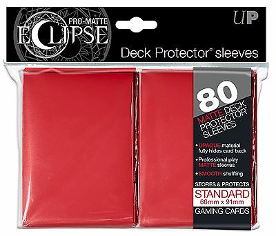 Ultra Pro PRO-Matte ECLIPSE Sleeves x 80 - Matte - Red
