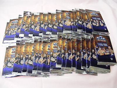 *WWE SLAM ATTAX* - 40 SEALED PACKETS = 320 CARDS - THEN NOW FOREVER - Topps WWE