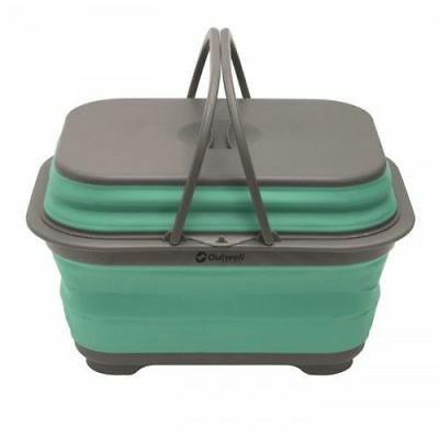 Outwell Collaps Camping Portable Outdoor Washing Base With Handle - Turquoise