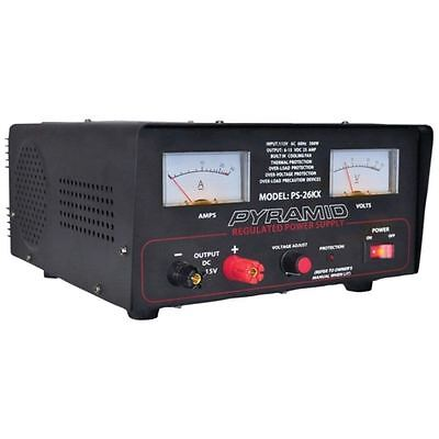 Pyramid PS26KX 22-Amp Power Supply with Thermal Protector Built-in Cooling Fan