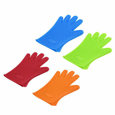 Kitchen Heat Resistant Silicone Glove Oven Pot Holder Baking BBQ Cooking Tool GF