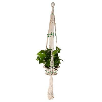 115cm 4 Legs Macrame Plant Hanger Indoor Outdoor Hanging Planter Basket