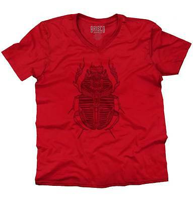 Ancient Egyptian Holy Scarab Beetle Spiritual V-Neck Tees Shirts Tshirt T-Shirt