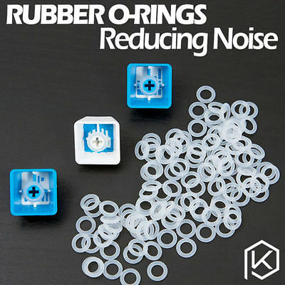 120 PCs CLEAR Rubber O-Ring Damper keycap Mechanical Keyboard CHERRY MX SWITCH