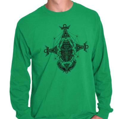 Ancient Egyptian Scarab Shirt | Symbol Spirit Animal New Age Long Sleeve T Shirt