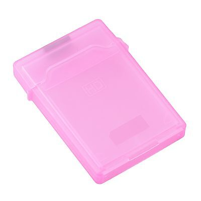 """2.5"""" HARD DISK DRIVE HDD PROTECTION STORAGE BOX CASE TANK Pink TO"""