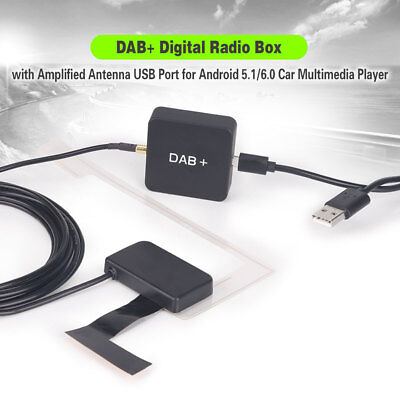 DAB+ Digital Radio Box MCX Amplified Antenna for Android 5.1/6.0/7.1 Car Stereo